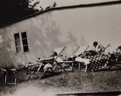 Original Antique Photograph Afternoon Napping in the Sun