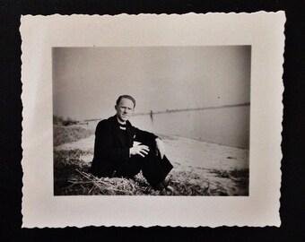 Original Antique Photograph Smitty on the Beach 1947
