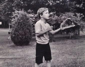 Original Antique Photograph The Catcher
