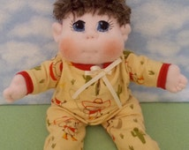 USA Made Soft Cloth Doll, Soft Baby Doll, Baby Boy Doll made to order