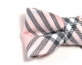 Men College black pink plaid bowtie - Baby, toddler boys tie  Kids Clip-On Bow Tie