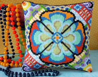 60s Style Mini Cushion Cross Stitch Kit