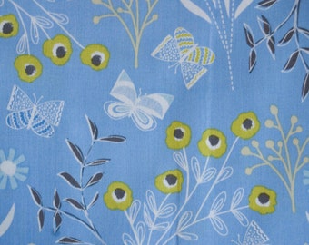 Fabric Dashwood Flyaway Butterfly Blue  Sold by the Half Metre - UK Shop - Craft Supplies