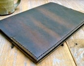 Large Coffee Brown Leather Moleskine Notebook Cover