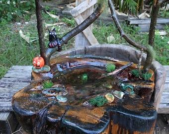 Halloween Haunted Pond  Diorama