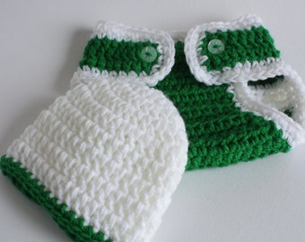 Handmade crochet baby layette / gift set.   Ideal Glasgow Celtic /Christening / shower /new baby  gift.