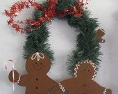 Gingerbread Couple, wall hanging, door decor, wall decor, Christmas, collector, garland