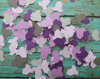 Purples and Greys Baby Bodysuit Confetti - Bodysuits, baby showers, table confetti, greys purples