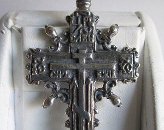 Sterling Silver LARGE RUSSIAN CROSS