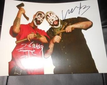 SIGNED Insane Clown Posse 8x10 photo ICP juggalo hip hop music Autograph