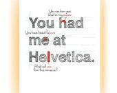Helvetica: A Typographer's Valentine