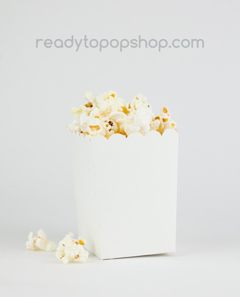 DIY Ready to Pop Plain White Popcorn Party Favor by ...