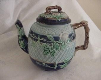 Antique Majolica Tea Pot