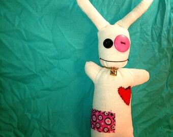 Happy Plush Art Bunny of the Voodoo persuasion