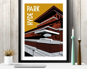 HYDE PARK Chicago Neighborhood Poster