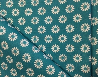 Vintage Turquoise Home Decor Fabric 3 Plus Yards by 36 Width