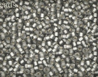 Frosted Silver Gray seed beads, size 11/0 TOHO, TR-11-29AF 10g