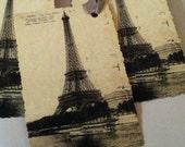"Vintage French Eiffel Tower Card/Tag...Paris...""La Tour Eiffel"" Any Occasion Birthday Christmas"