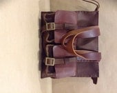 Women Leather Tote / Handmade Stitched Leather Purse/ Bag Accessories