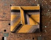 Vintage Navajo Rug / 1940's / Original Navajo Weaving / Black & Yellow Wool Rug