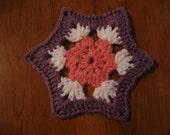 A flower hexagon crochet motif pattern PDF file
