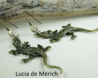 Gecko earrings- Gecko earrings - personalized gecko -  mother's day gift -Coupon code.