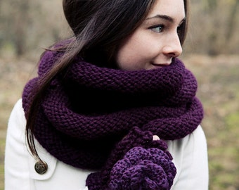 Digital Download of our Plum Cowl Knitting Pattern