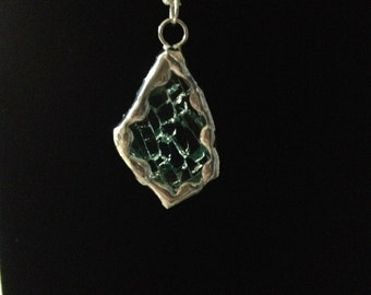 Shattered Tractor Glass Necklace