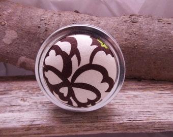 White flower Pin cushion Jar