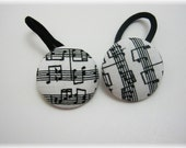 Musical Notes Ponytail Elastics Ties