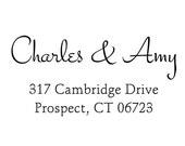 calligraphy handwriting script Return address stamp,SELF INKING custom address stamp,personalized stamp,wedding stamp,S15