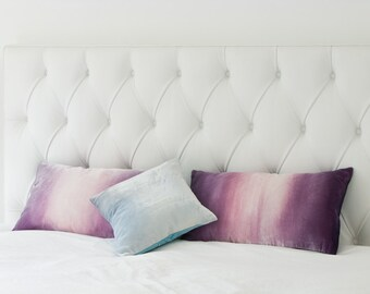 """Ice blue velvet decorative cushion/pillow cover, 12"""" (30cm) square cushion cover, ready to ship"""