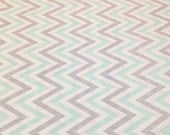 Custom order for porscheray - Chevron - Minty Organic Cotton from Cloud9 Fabrics - 2.5 yards