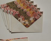 80s Floral Envelopes - Vintage Envelopes and stationery - letter writing - corespondence - Grapes - love letters