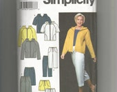 Simplicity Pattern 9267 Misses Jacket Pants Shorts Skirt size 16 18 20 22