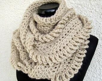 Crochet Scarf PATTERN-Circle Scarf-Chunky Scarf-Infinity Scarf-DIY Crafts-Unique Scarf-Instant Download PDF Pattern No.149  Lyubava Crochet