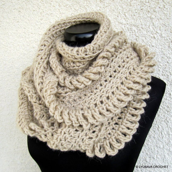 Crochet Scarf PATTERN-Circle Scarf-Chunky Scarf-Infinity