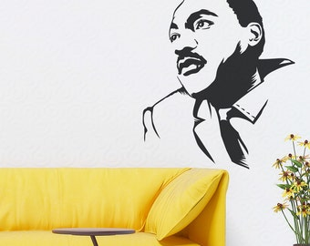 Martin Luther King Jr. Wall Decal Sticker -Portrait Decal, Living Room Wall Decal, I Have A Dream, Dr. King, MLK, Civil Rights, Human Rights