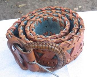 Hand Tooled Vintage Leather Belt