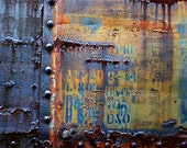 Abstract Fine Art Photography Rust Train - Colored Notebook 8x12
