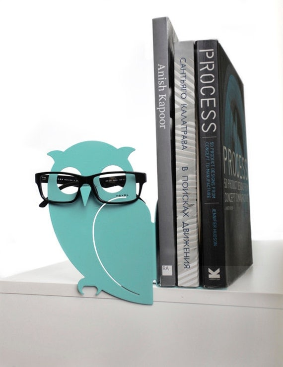 Mint Owl Bookend and Eyglasses Holder