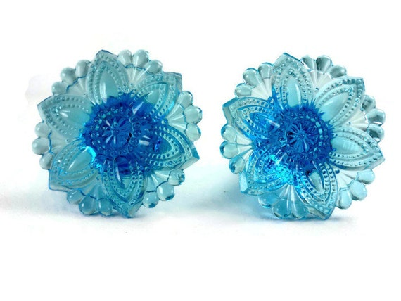 Pair Of Antique Blue Glass Curtain Tie Backs By Chromaticwit