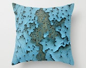 Big Bang, pillow cover, distressed, shattered, buckshot, wood, blue, grey, peeling paint, abstract, photograph, texture, holes, boat, Greece