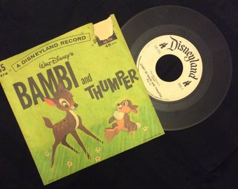 vintage Tunes ... BAMBI and THUNDER 45 RECORD in Sleeve ...