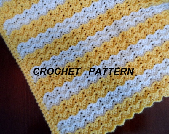 Free Crochet Baby Blanket Ripple Patterns : Crochet Blanket Pattern, Petite Ripple Baby Afghan Pattern ...