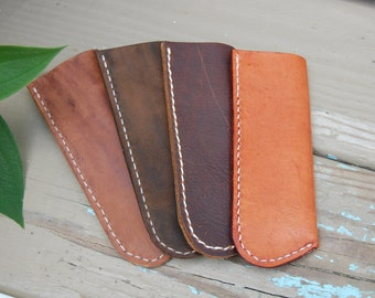 Leather Reading Glasses Case- Glasses Case * Eye Glasses Case * Reading Glasses * Sun Glasses Case* Custom Made for Your Glasses