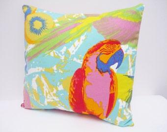 Parrot Cushion Tropical Homewares Bird Cushion Brighton Colourful Parrot Cushion Fabric Lounge Bedroom Cushion Tropical