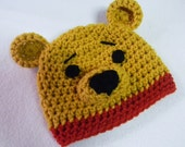Vintage Bear Crochet Hat - Made To Order