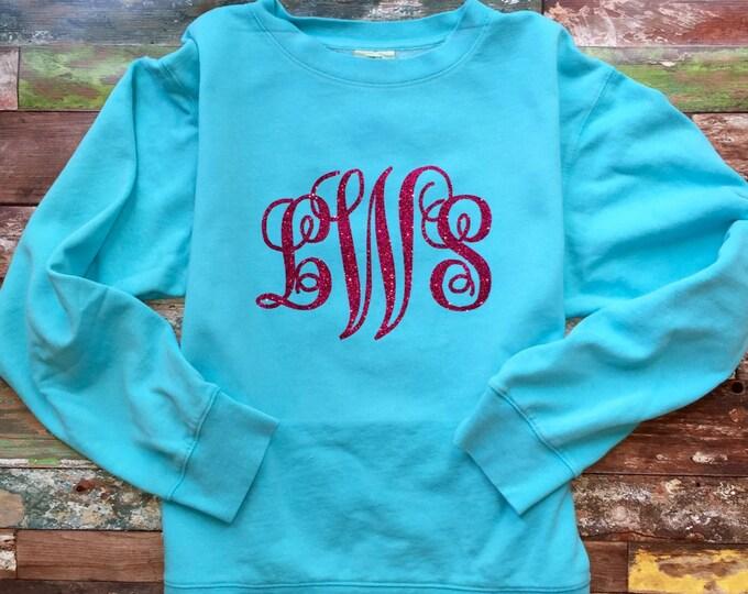 Monogrammed Sweatshirt, Monogram Crewneck Sweatshirt, Monogram Pullover, Gift for Her, Gifts Under 20, Monogrammed Gifts