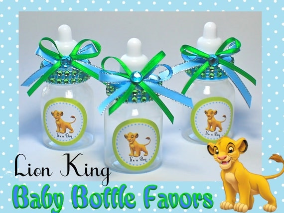 lion king baby bottles baby shower favors candy containers baby